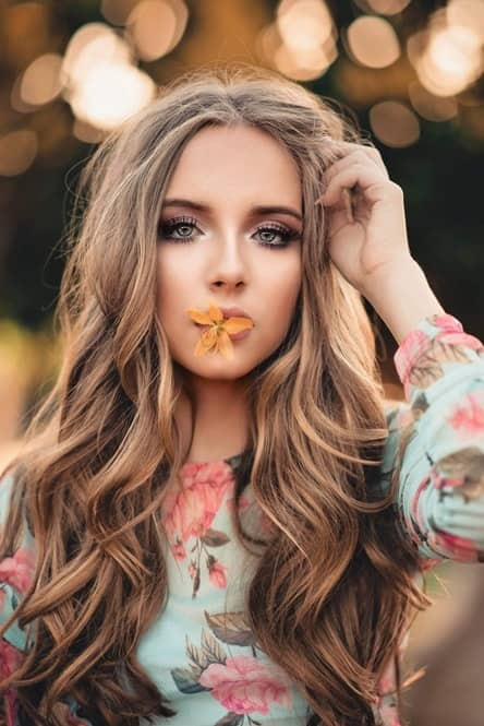 Beachy Wave Hairstyle for Shoulder Length hair