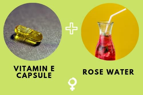 Vitamin E Capsule and Rose Water Remedy to Cure Dark Circles