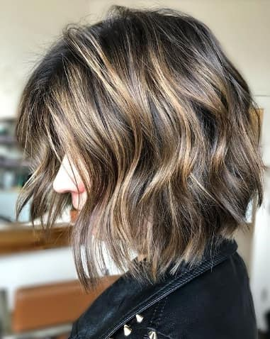 Layered Bob Hairstyle with Highlights