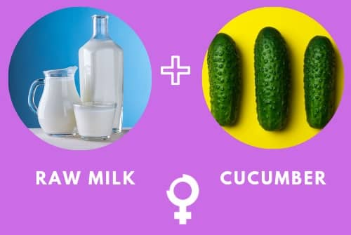 Cucumber and Raw Milk Natural Home Remedy for Dark Circles