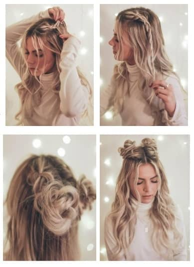 Half space Buns hairstyles Step by Step instructions