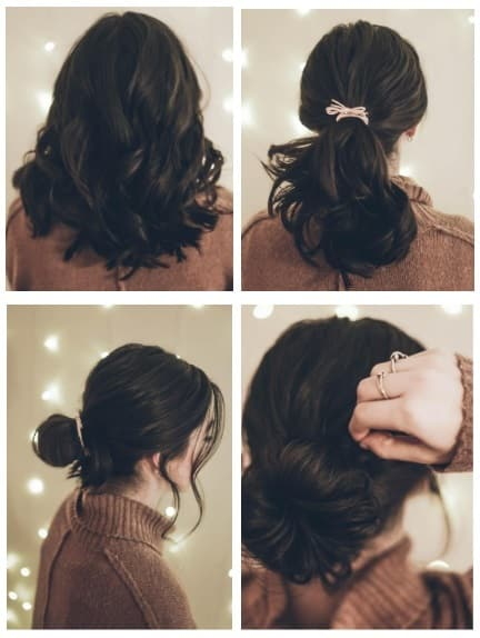 Messy Bun Hairstyle Instructions