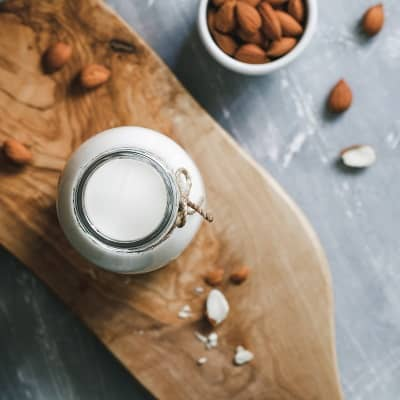 Milk and Almonds for Natural Gkow of Skin