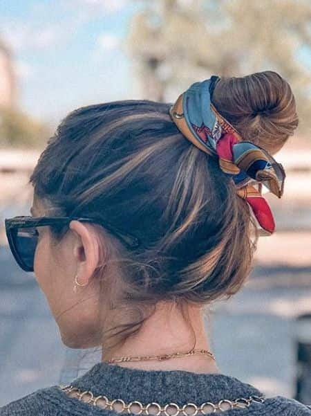 Messy Top Knot with Headband