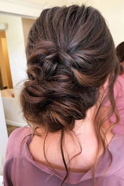 Side Swept Low Chignon