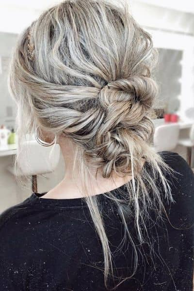Low Sock Updo with Angelic Touch