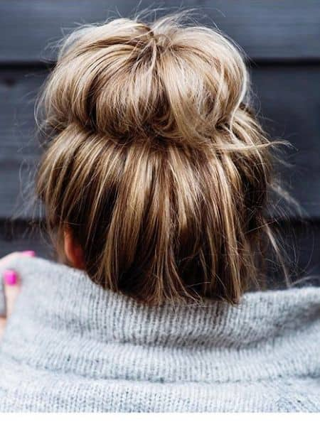 Crimped Messy Bun