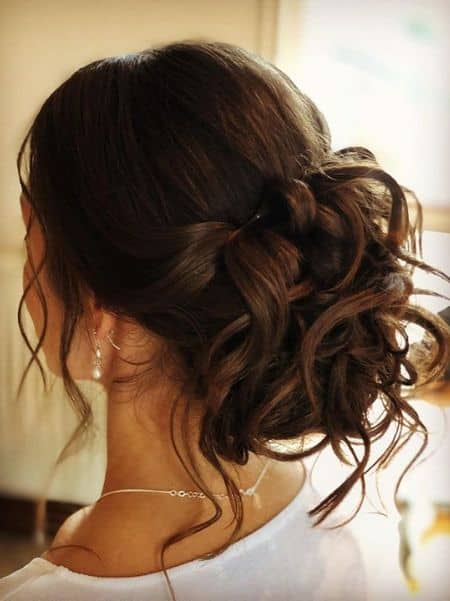Elegant Twisted Low Sock Updo