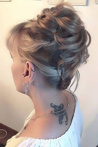 Upside Down Messy Bun Hairstyle