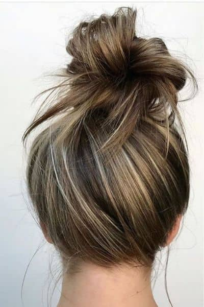 Chic High Messy Bun